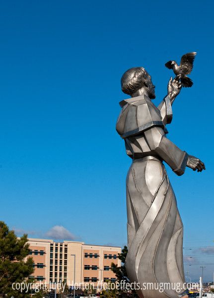 Giant statue of St. Francis at the new Penrose Hospital