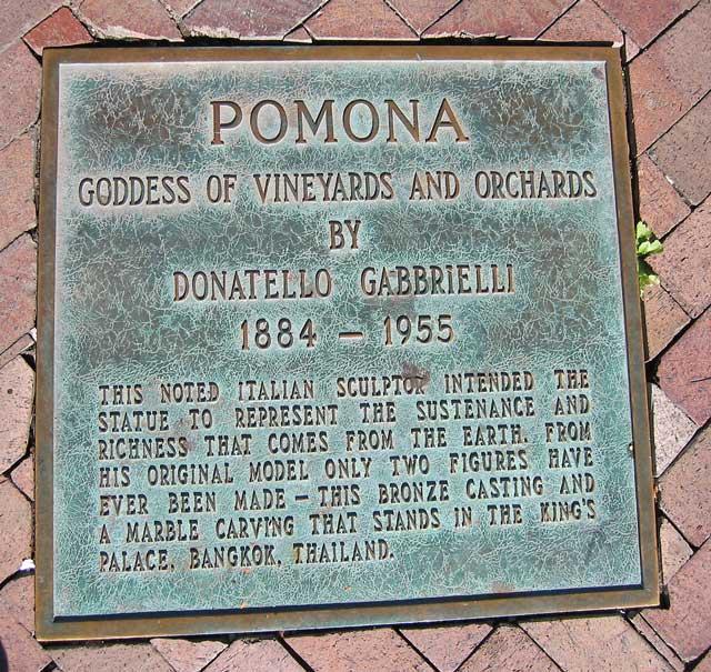 Pomona plaque.