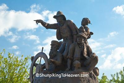 The Journey West Sculpture, St. Joseph, Missouri