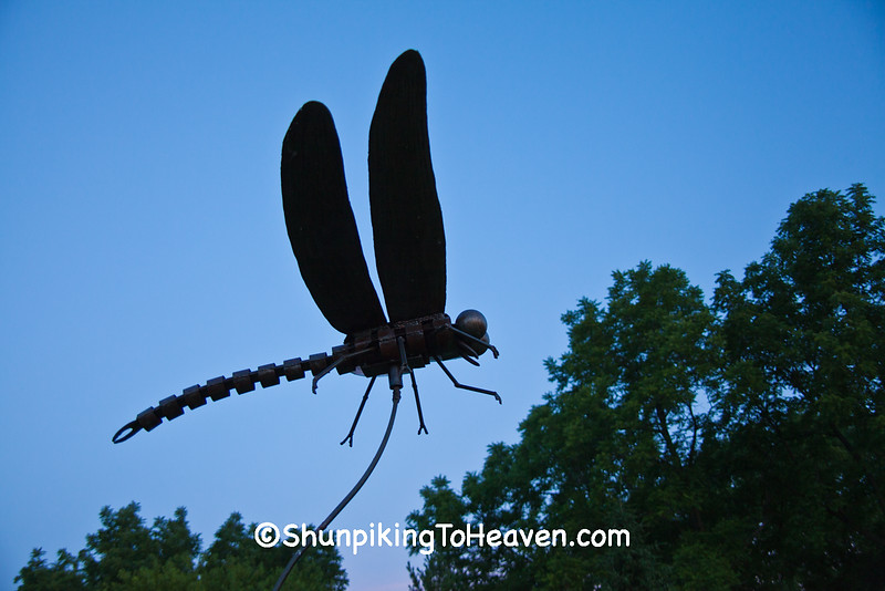 Dragonfly Sculpture, West Bend, Wisconsin