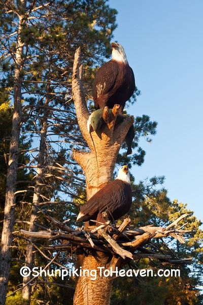 Eagle Carving, Boulder Junction, Wisconsin