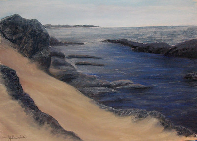 "Still Morning Tide 22""x30"" Pastel & Alcohol Wash Private Collection"