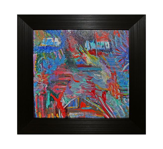 Silence - 2006 - 12x12 - Acrylics on canvas - (Silence & Chaos are companion pieces).