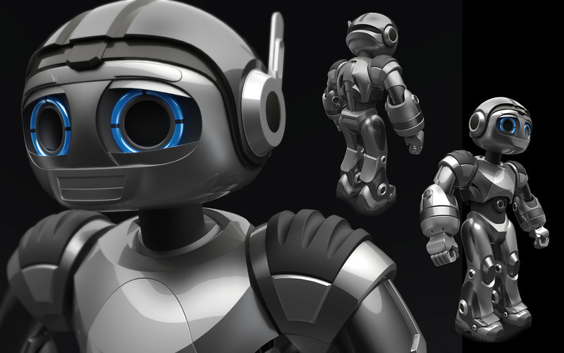 Cody the Robosapien concept model. Rhino Model: Joey Keshishyan