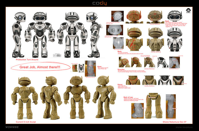 Cody the Robosapien Robosapien Rebooted: Main character Robot Design and Art Direction.