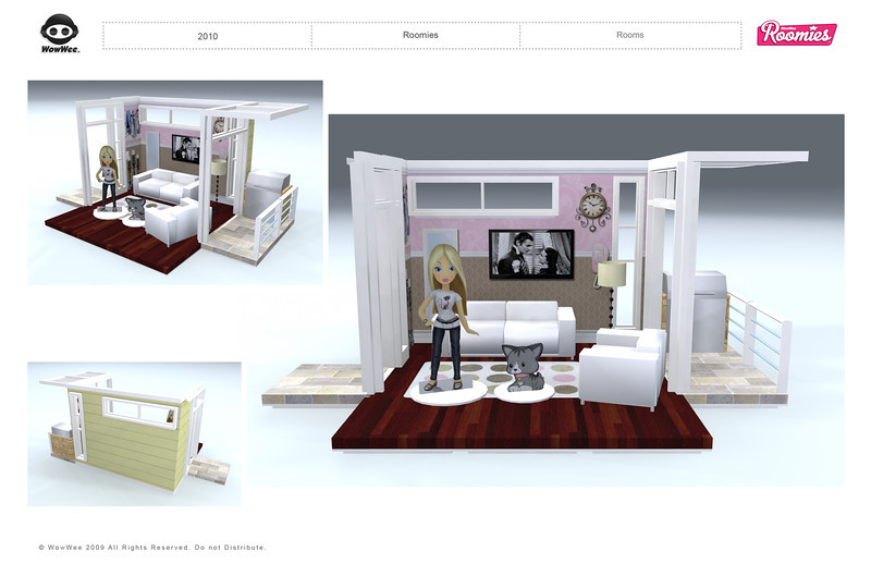 Roomies: Unreleased Small Doll Line. Touch sensitive Room Decor Prototypes Designs.