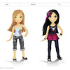 Roomies: Unreleased Small Doll Line. Characters and Fashion