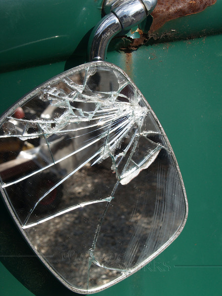Broken VW Microbus Mirror