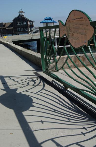 Shadows along San Diego harbor