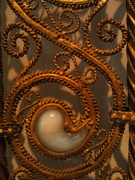 Part of a balustrade made by Louis Comfort Tiffany c. 1890, for the Henry O. Havemeyer house - glass Favrile paisleys were set loosely to tinkle with footsteps on the stairs