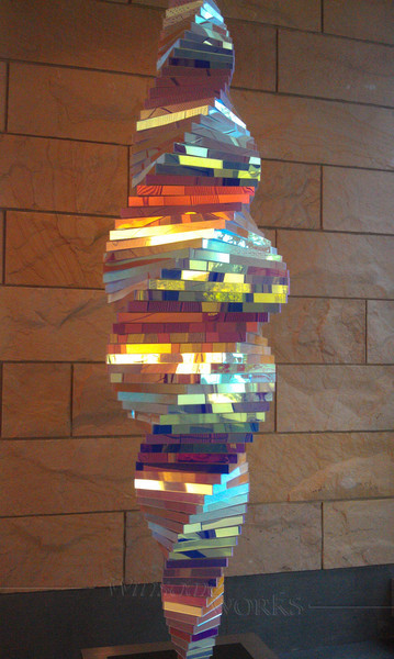 Hanging sculpture at the University of Michigan