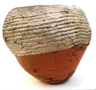 Terra Cotta Horsehair Raku bowl