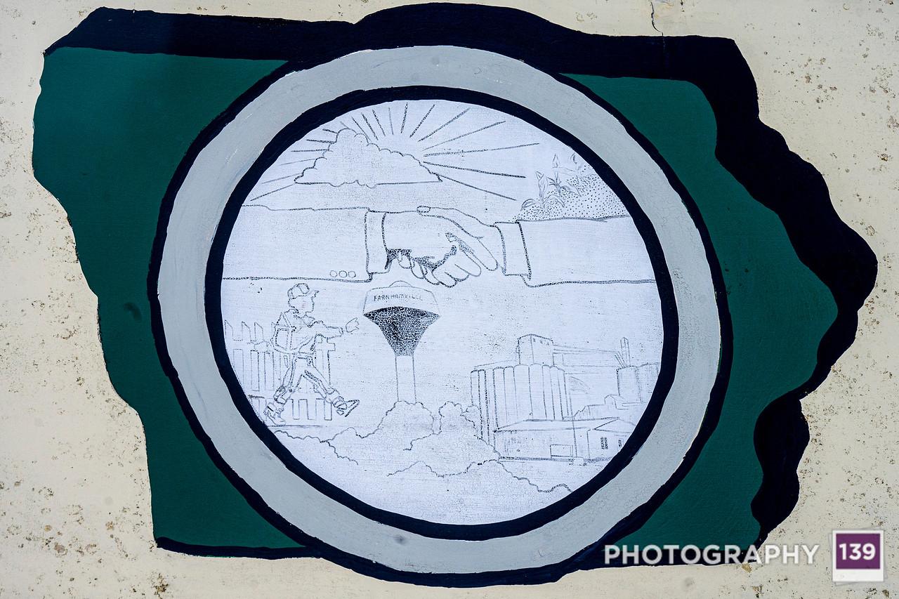 Farnhamville Town Sign Close-Up