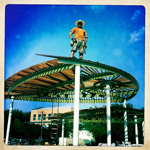 "Chris Levack Artist Sculpture Craftsman.  Austin Skate Park Art in Public Places ""Trilobites Shade"""