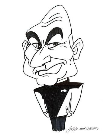 """""""Captain Picard Caricature"""""""
