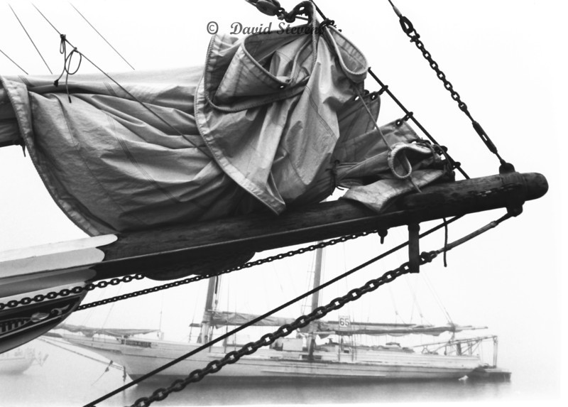 Bowsprit of Krentz and Schooner Kathryn Lee