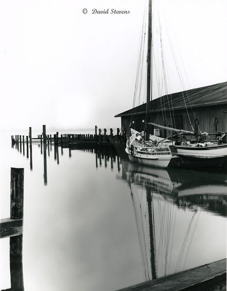 Skipjack Edna Lockwood in port