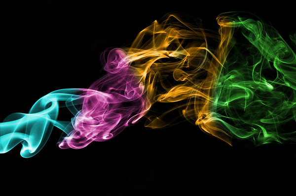 Multi-colored Smoke Black , Cottage Grove fine art photographer and photography