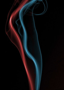 Red and Blue Smoke , Cottage Grove fine art photographer and photography