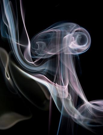 Small smoke signal rises