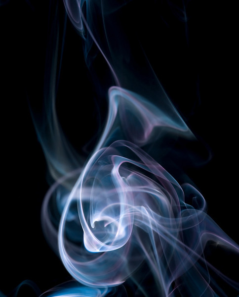 Swirling smoke
