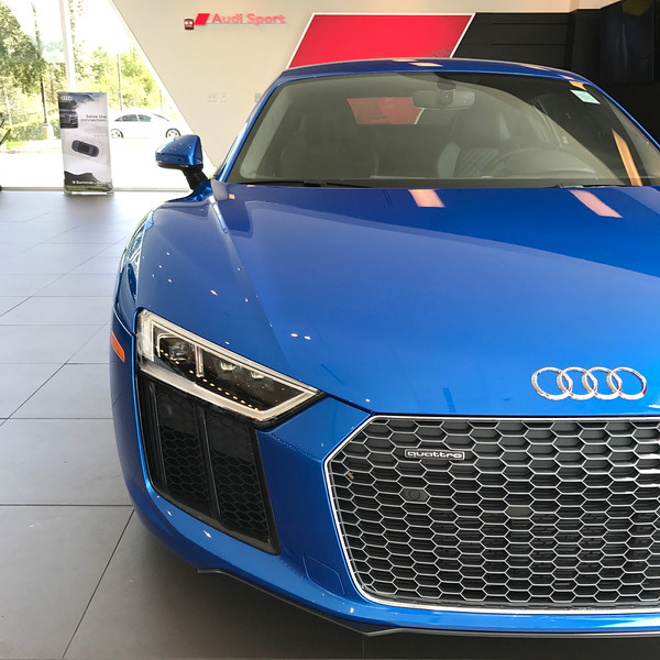 R8 at Audi Sport lounge