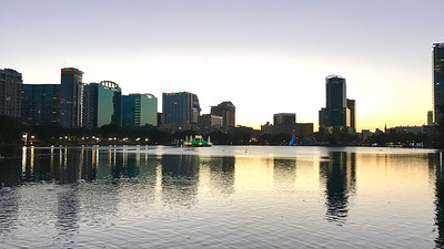 Downtown Orlando Christmas Eve