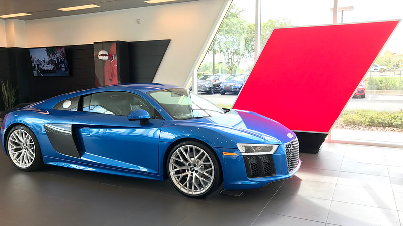 R8 at Audi Sport lounge