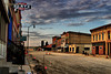 The construction on Main Street in Monticello along with a dramatic evening sky gives the area a timeless look.