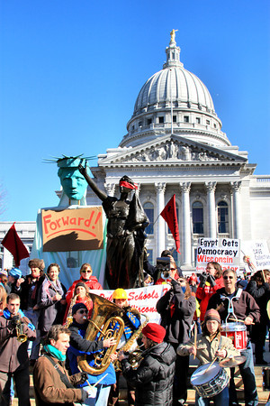 An estimated 70,000 people gathered at the State Capitol on Saturday, Feb. 19.