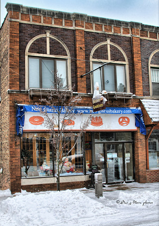 Neither snow, nor drifts, nor high winds could keep the 100 year old  bakery from making goodies.