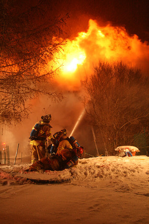 House fire in December 2008.