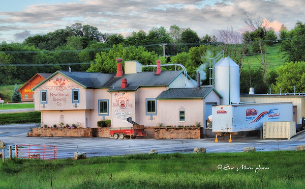 The Riverside facility for the  New Glarus Brewing Company in New Glarus, Wi. New Glarus Brewery makes a number of hand crafted beers including Spotted Cow.