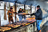 In January the Monticello Community Club, grills over 500 chickensas an annual fundraiser. Volunteers are up early to get the charcoal going and every year the chickens are a sellout. The event has never been cancelled due to cold weather.