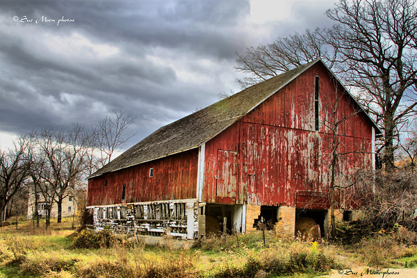 Both the barn and the house stood quiet and alone.