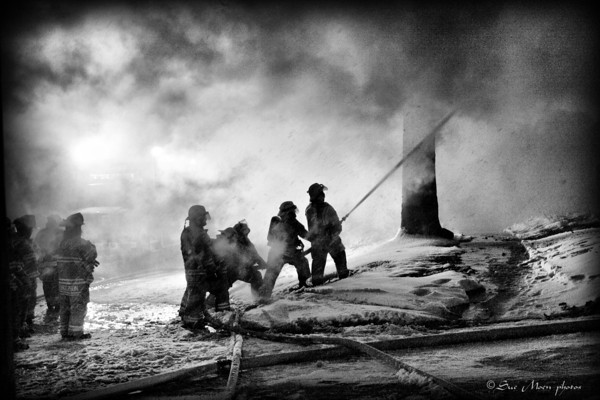 This fire was in December 2008. I was organizing photos and decided to try some black and white work.