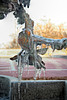The birds on the fountain at the New Glarus Brewery had icicles hanging from them the last weekend in November.