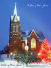 I just found this photo while going through some old files. The Swiss United Church of Christ  in New Glarus WI during an evening snow. December 10, 2005