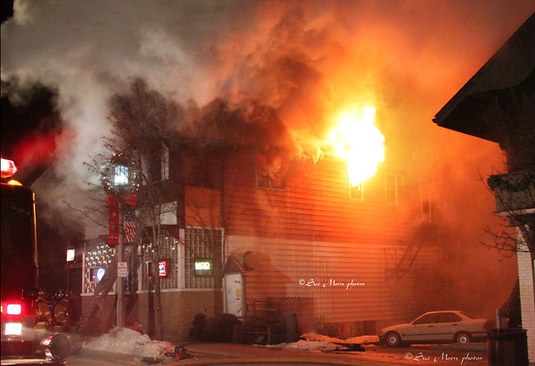 On January 2, 2011, Greg and Erin Kleeman, New Glarus, lost their home and business to a fire that destroyed the building. Within hours the community was stepping up to help the family.