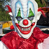 A mannequin attired in a clown costume greets customers at a booth in the Swap Shop Flea Market in Fort Lauderdale, Florida.