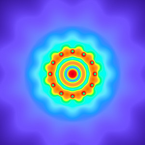 23.4 Hz - Equal Polarity Sound Pressure Mandala. (See photo gallery description for more details).
