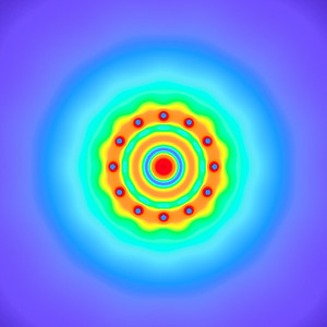 21 Hz - Equal Polarity Sound Pressure Mandala. (See photo gallery description for more details).