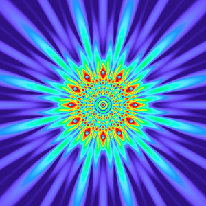 100 Hz - Equal Polarity Sound Pressure Mandala. (See photo gallery description for more details).