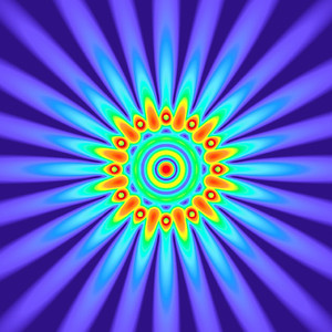 35.5 Hz - Equal Polarity Sound Pressure Mandala. (See photo gallery description for more details).