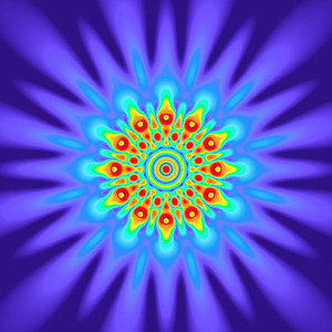 63 Hz - Equal Polarity Sound Pressure Mandala. (See photo gallery description for more details).