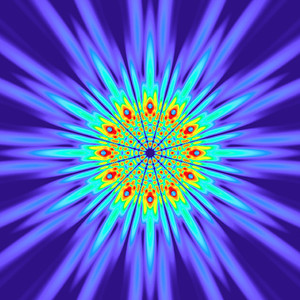 118 Hz - Alternating Polarity Sound Pressure Mandala. (See photo gallery description for more details).