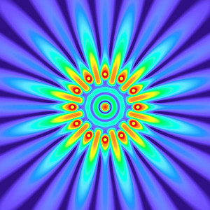 40 Hz - Equal Polarity Sound Pressure Mandala. (See photo gallery description for more details).