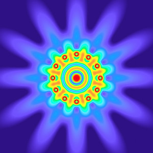 28 Hz - Equal Polarity Sound Pressure Mandala. (See photo gallery description for more details).