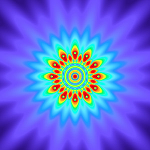 50 Hz - Equal Polarity Sound Pressure Mandala. (See photo gallery description for more details).