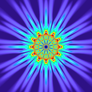 112 Hz - Alternating Polarity Sound Pressure Mandala. (See photo gallery description for more details).